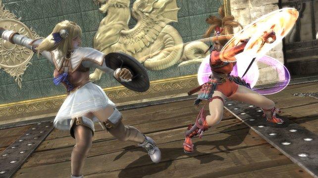 Takis Schülerin Natsu tritt gegen Sophitias Tochter Pyrrha an.