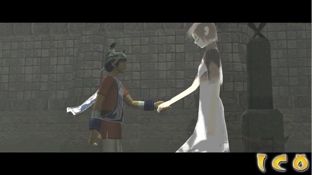 Ico ist ein gefühlvolles Spiel, bei dem ihr auf ein kleines Mädchen aufpasst.