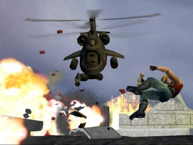 Der Hubschrauber ist der erste Endgegner