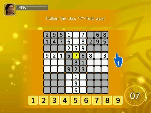 Ein Sudoku-Rätsel - auf der Suche nach der richtigen Zahl.