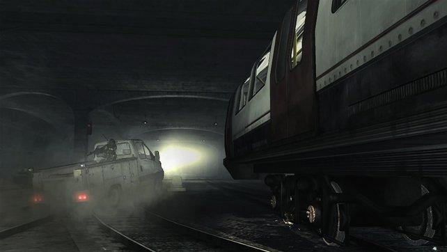 Wer stoppt die Todesfahrt der U-Bahn MW3? Eure Kollegen! Mit einer Ramm-Attacke!