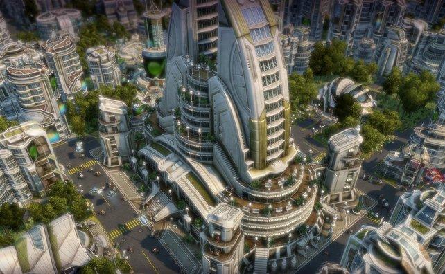 Futuristische Städte sind typisch für Anno 2070.