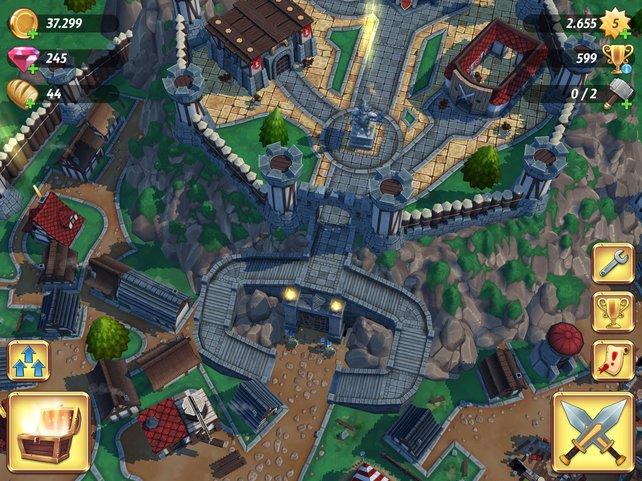 Genreüblich errichtet ihr Gebäude, um Armee und Goldvorrat zu vergrößern.
