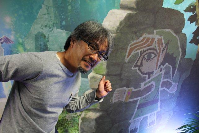 Ob Eiji Aonuma auch versucht, als lebende Zeichnung über Wände zu laufen?