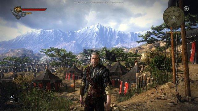 Geralt bereist eine spannende Fantasy-Welt.