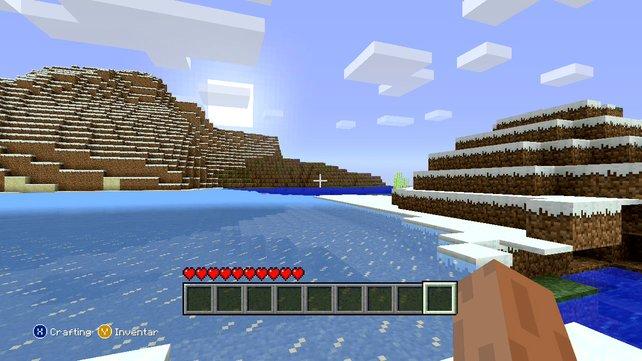 Wie in der PC-Version startet ihr auf einer einsamen Insel.