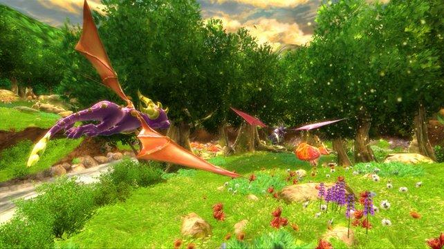 Die hässlichen Hügel oben links trüben den Gesamteindruck dieses idyllischen Screenshots.