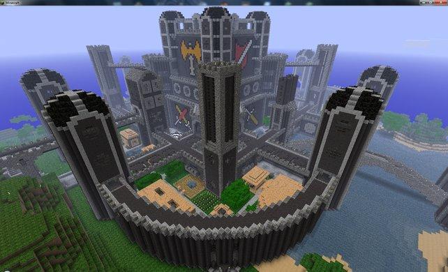 Dieses riesige Schloss wurde mit viel Liebe zum Detail erbaut.