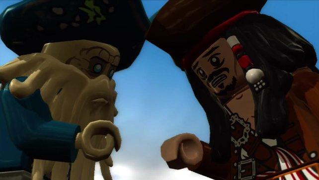 Was Jack und Davy Jones wohl für eine Lego-Laus über die Leber gelaufen ist?