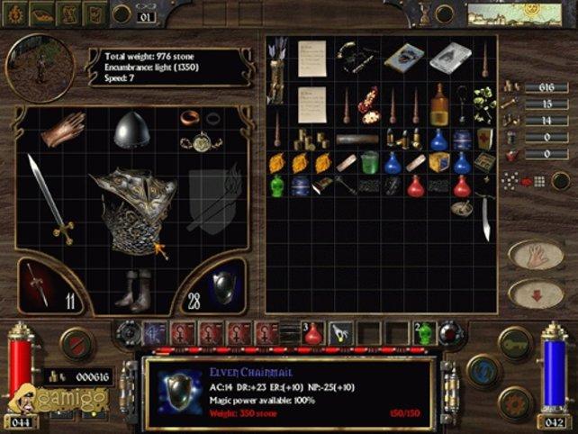 Das Inventory erinnert stark an Diablo