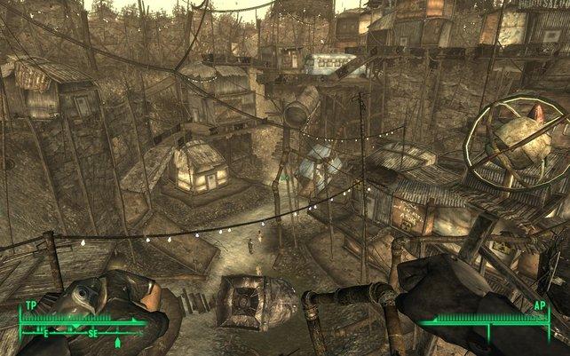 Ein Blick in die Stadt Megaton.