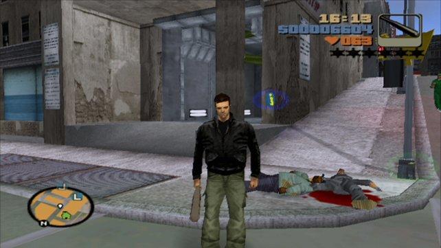 Blutlachen von Gegnern gibt es in einigen deutschen GTA-Teilen nicht zu sehen.