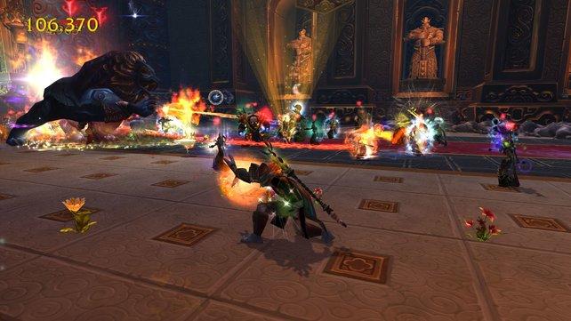 Viele Online-Rollenspiele setzen im hochstufigen Bereich auf Kämpfe gegen Schlachtzugs-Bosse.