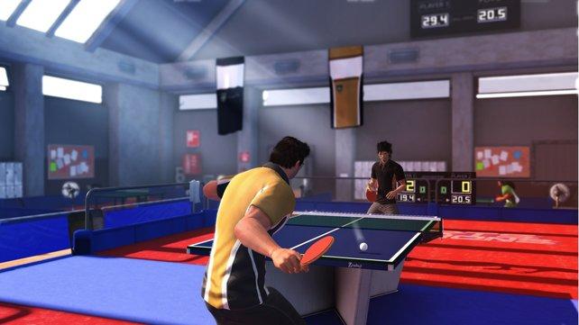 Auch Tischtennis ist mit von der Partie.