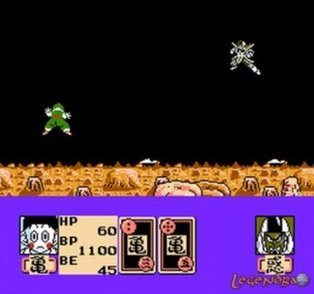 Wenig verführerisch wirken die Kämpfe im 1991 fürs NES erschienenen Dragon Ball Z II: Gekishin Freeza.