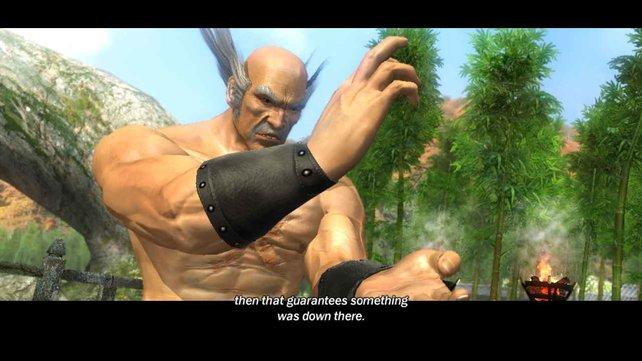 Heihachi Mishima ist zwar sehr gealtert, aber die Frisur sitzt weiterhin.