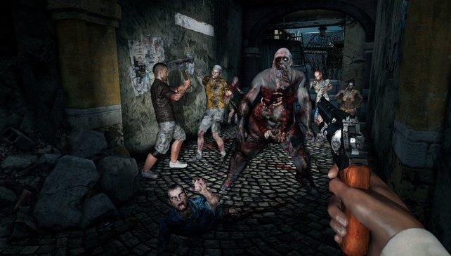 Die Zombies unterscheiden sich stark. Im Vordergrund eine Wasserleiche.
