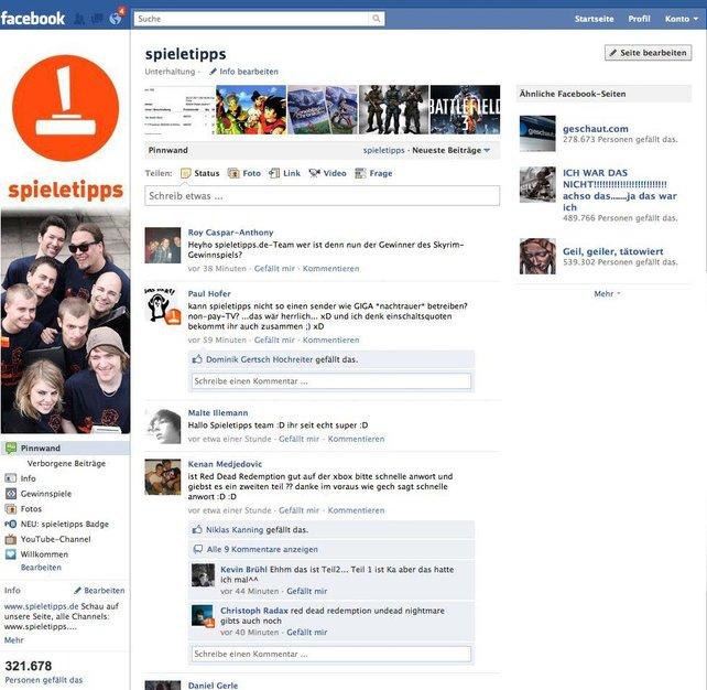 spieletipps auf Facebook, das gefällt uns.