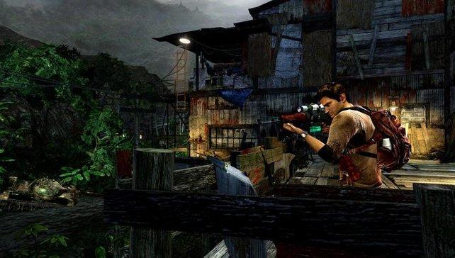Auch auf der PS Vita macht Nathan Drake eine gute Figur.