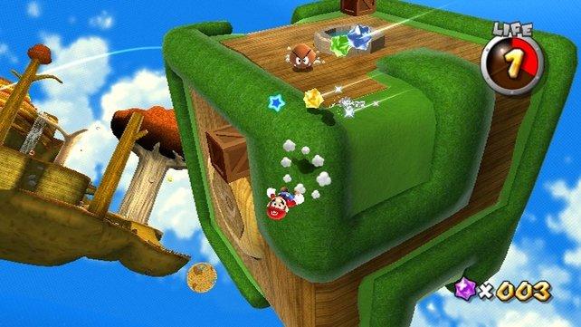Teilweise wird euch schwindelig, wenn Mario auf dem Kopf läuft