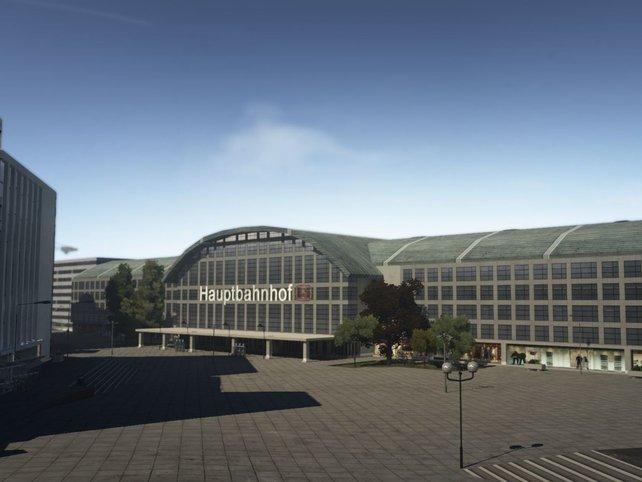 Orte wie der Domvorplatz samt Bahnhof lassen die fehlenden Details an den Gebäuden erkennen.