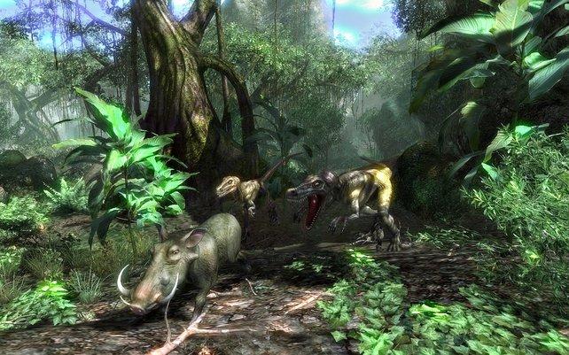 Abwechslungsreiche Gebiete - von der Savanne bis zum Dschungel - lassen sich frei bereisen.