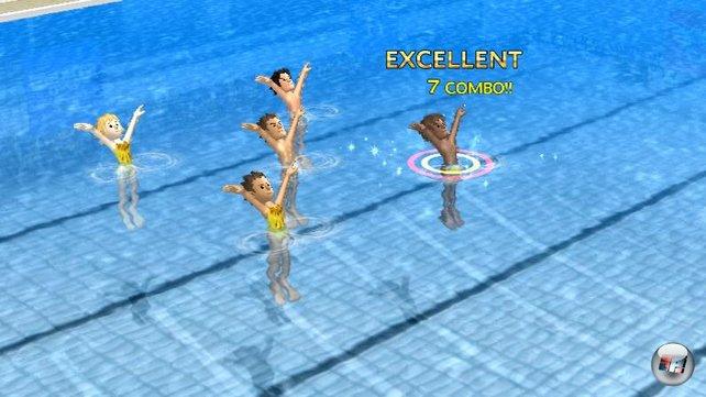 Nur die Hälfte der Spiele macht wirklich Spaß: Synchronschwimmen gehört nicht unbedingt dazu.