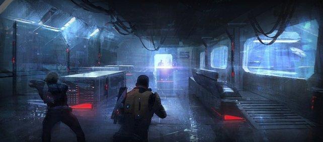 """Dunkel ist´s: Die Athmosphäre von """"Mass Effect 2"""" ist sehr düster."""