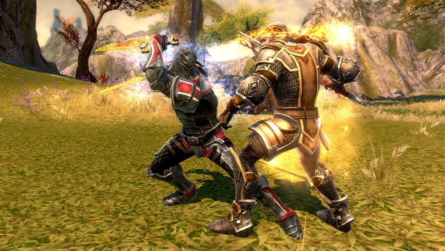Actionlastige Kämpfe sind in Kingdoms of Amalur Reckoning an der Tagesordnung.