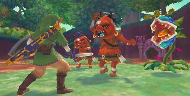 In gewohnter Zelda-Manier stellt ihr euch den Gegnern.