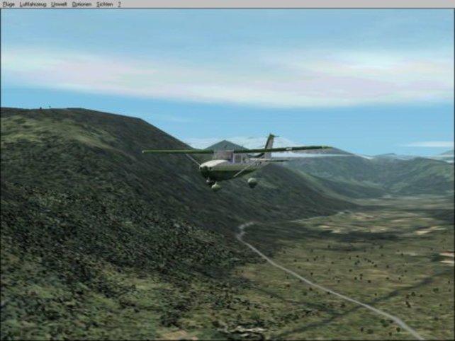 Ein Flug durch die Alpen