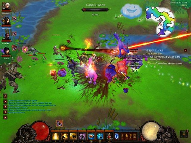 Das Regenbogen-Level ist eine Anspielung auf das Kuh-Level in Diablo 2.