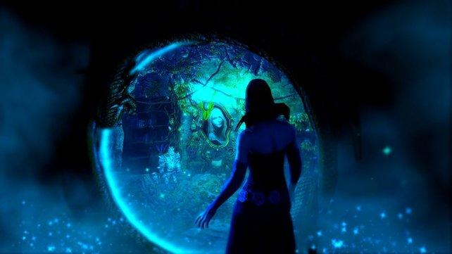 Rosabel beobachtet die Helden durch einen magischen Spiegel. Führt sie etwas im Schilde?