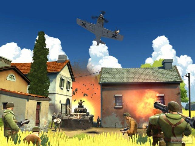 Flieger und Panzer sorgen für Action