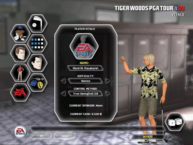 Ein selbsterstellter Golfer