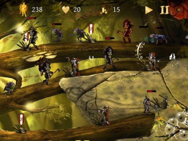 Auf langen Pfaden wandern die Kreaturen, während eure Krieger an entsprechender Stelle warten.