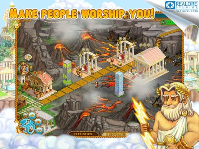 Als römischer Gott errichtet ihr eure eigene Traumstadt.