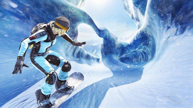 Vereiste Stellen sind besonders schwierig: Das Eis gibt euch wenig Halt, euer Board schlittert durch die Gegend.