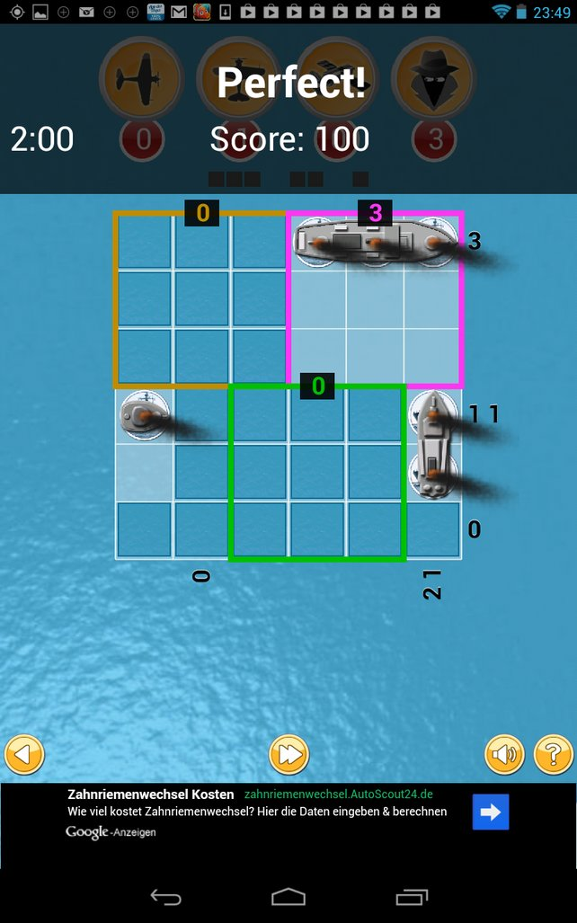 Wer richtig kombiniert, kann alle Schiffe versenken.
