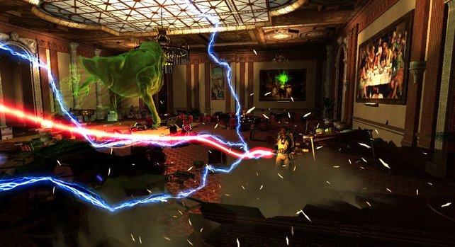 Der Hausgeist der Ghostbusters hat natürlich auch seinen Auftritt.