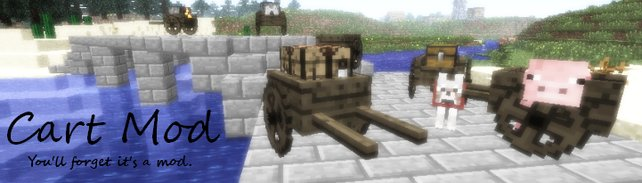 """Unscheinbar, aber nützlich: Dank """"Cart Mod"""" dürft ihr in Minecraft Tiere und Kisten transportieren."""