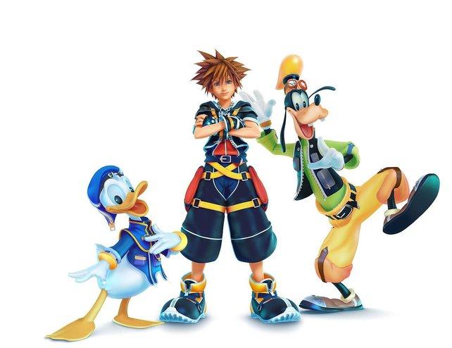 Ihr seid nicht allein: Held Sora stehen Donald und Goofy zur Seite.