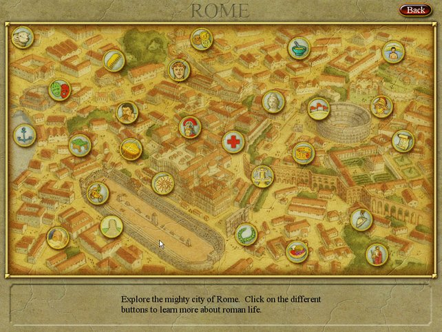 Die Geheimnisse Roms auf einem Screen