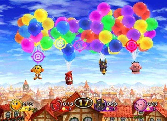 Der Grafikstil ist so bunt wie die Luftballons.