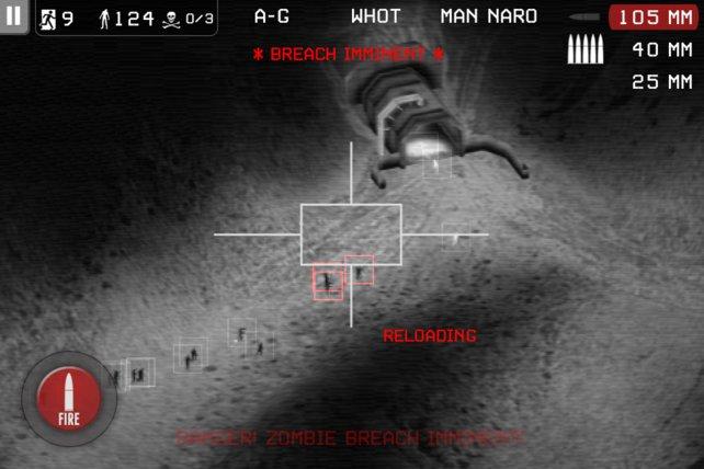 Praktischerweise erscheint eine rote Warnmeldung, sobald Zombies in Nähe eures Bunkers sind.