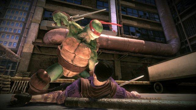 Dieses Mal kommen die Kampfschildkröten nicht im kindlichen Comic-Stil daher.