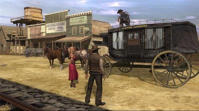 Auch leicht bekleidete Damen gehören zum Wilden Westen dazu (Gun).