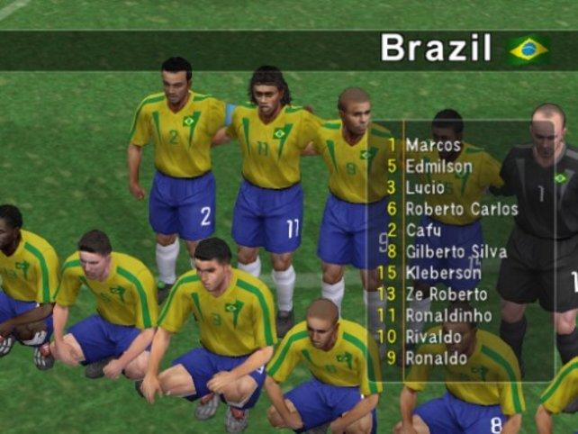 Die Brasilianische Mannschaft beim Gruppenfoto vor dem Spiel