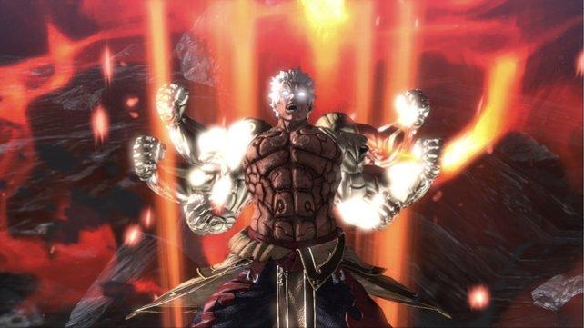 Die Inszenierung von Asura's Wrath ist einmalig.