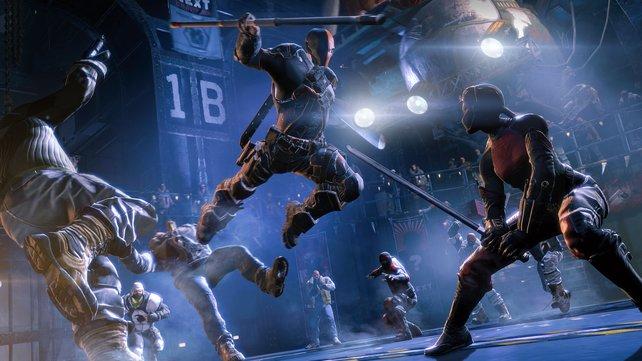 Im Herausforderungsmodus sind auch Spielfiguren wie Deathstroke spielbar.